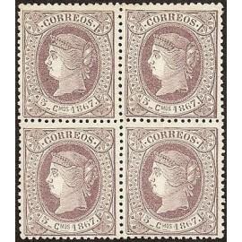 1867 ED. Cuba 18 * [x4]