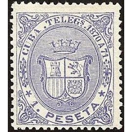 1870 ED. Cuba Telégrafos 12 *