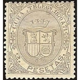 1870 ED. Cuba Telégrafos 13 *