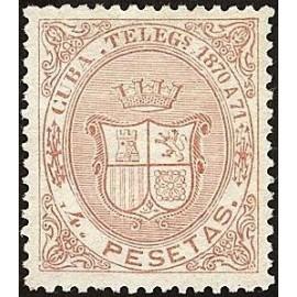 1870 ED. Cuba Telégrafos 14 *