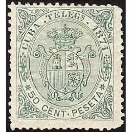 1871 ED. Cuba Telégrafos 15 *