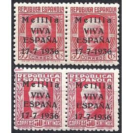 1936 ED. ELP Melilla 1he + 1, 2he + 2 **