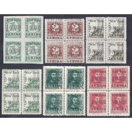 1938 ED. ELP Lérida 1/6 ** [x4]