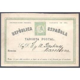 1874 ED. 6Ai us Tarjetas Entero Postales