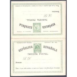 1874 ED. 6e * Tarjetas Entero Postales