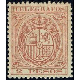 1890 ED. Filipinas Telégrafos 33 * (2)