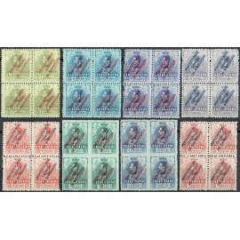 1916 ED. Marruecos Telégrafos 1N/8N ** [x4]