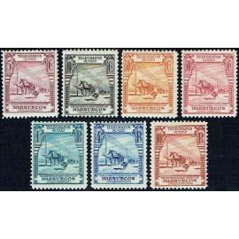 1928 ED. Marruecos Telégrafos 25/31 *