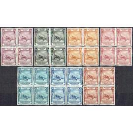 1928 ED. Marruecos Telégrafos 25/31 ** [x4]