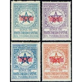 1935 ED. Marruecos Telégrafos 34H/34K *