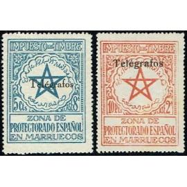 1935 ED. Marruecos Telégrafos 34M/34N *