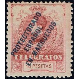 1916 ED. Marruecos Telégrafos 8N **