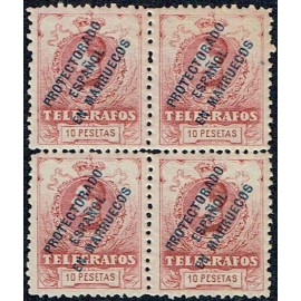1916 ED. Marruecos Telégrafos 8N ** [x4]