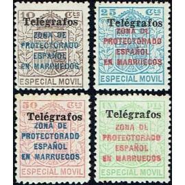 1937 ED. Marruecos Telégrafos 41A/41D **