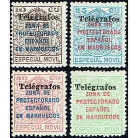 1937 ED. Marruecos Telégrafos 41A/41D *