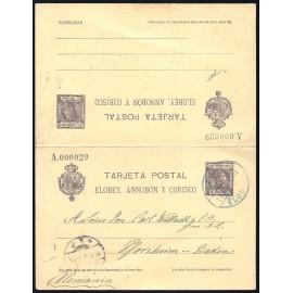 1907 ED. 6 us Enteros Postales Elobey, Annobón y Corisco