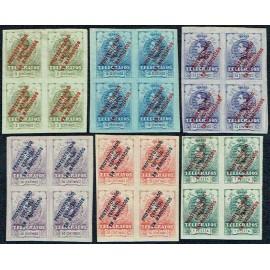 1916 ED. Marruecos Telégrafos 1s/6s * [x4]