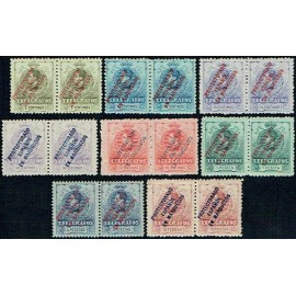 1916 ED. Marruecos Telégrafos 1/8 + 1heaA/8heaA * [x2]
