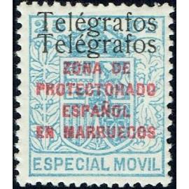 1937 ED. Marruecos Telégrafos 41Fhh *