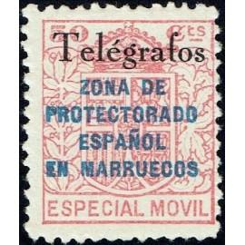 1935 ED. Marruecos Telégrafos 34B *