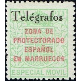 1935 ED. Marruecos Telégrafos 34C *