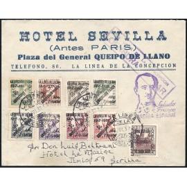 1937 ED. ELP La Línea de la Concepción 36/37, 38hi/39hi, 40/43 us