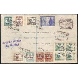 1937 ED. ELP Santa Cruz de Tenerife 20, 21 [x4], 36, 39 [x2] us