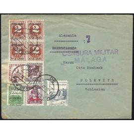 1937 ED. ELP Málaga 08 [x4], 09, 12, 17 us
