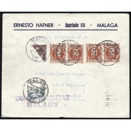1937 ED. ELP Málaga 08 [x4], 09 [x0.5] us