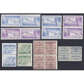 1937-1938 ED. Cruzada Contra el Frío 13hphi/14hphi, 13hvhi/16hvhi, 19hphi/20hphi **/*