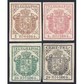 1864 ED. Telégrafos 1/4 * (2)