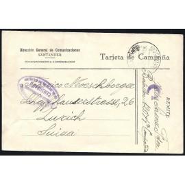 Tarjeta Postal de Campaña - Dirección General de Comunicaciones Santander