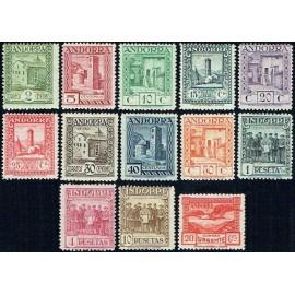 1929 ED. Andorra 15/27 * (2)