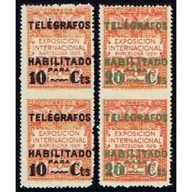 1929 ED. Barcelona - Telégrafos 01dspv/02dspv **