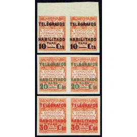 1929 ED. Barcelona - Telégrafos 01s/03s ** [x2]