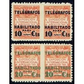1929 ED. Barcelona - Telégrafos 01sph/02sph **