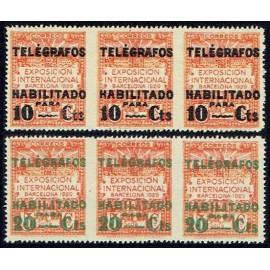 1929 ED. Barcelona - Telégrafos 01sth/02sth **