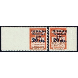1937-1938 ED. Barcelona - Telégrafos 11smd, 11smi **
