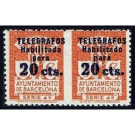 1937-1938 ED. Barcelona - Telégrafos 11sph **