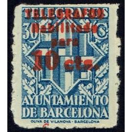 1942-1945 ED. Barcelona - Telégrafos 18hcc *