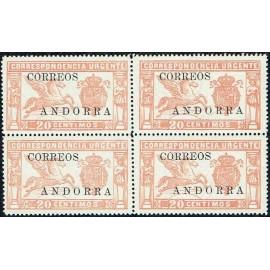 1928 ED. Andorra 13 ** [x4]