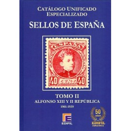 CATÁLOGO ESPECIALIZADO EDIFIL DE ESPAÑA TOMO II ALFONSO XIII Y II REPÚBLICA 1901-1939