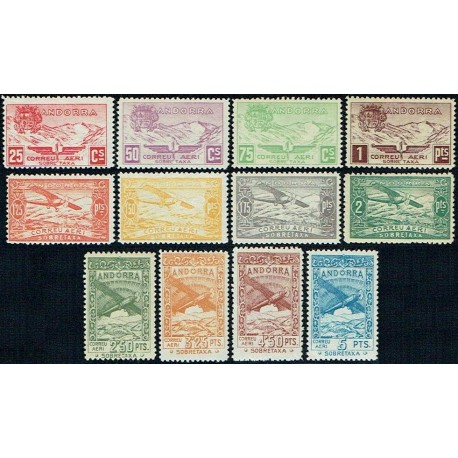 1932 ED. Andorra NE 13/24 ** (2)