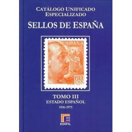 CATÁLOGO ESPECIALIZADO EDIFIL DE ESPAÑA TOMO III ESTADO ESPAÑOL 1936-1975