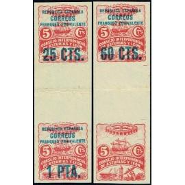 1937 ED. Asturias 08s+11s, 10s+03s (*)