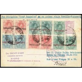 Graf Zeppelin A Brasil ED. 292 [x3], 293 [x2], 294 [x2], 295 [x2], 296 [x2]