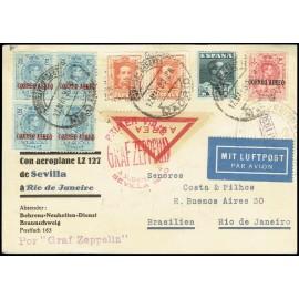 Graf Zeppelin A Brasil ED. 294 [x4], 296, 320 [x2], 321
