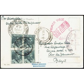 Graf Zeppelin A Brasil ED. 321 [x4]
