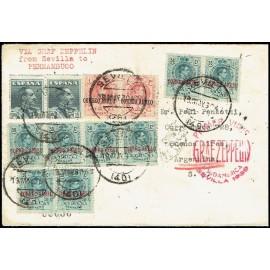 Graf Zeppelin A Argentina ED. 295 [x8], 296 [x2], 321 [x2]
