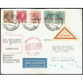 Graf Zeppelin A Estados Unidos ED. 295 [x2], 296, 322/323